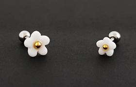 [AT26] 귀여운 꽃 피어싱